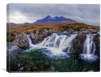 Waterfall on Allt Dearg Mor, Canvas Print