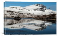The Storr in winter #4, Canvas Print