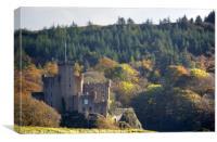 Dunvegan Castle in the autumn, Canvas Print