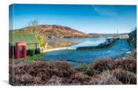 The Kylerhea ferry slip, Canvas Print