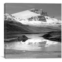 The Storr partially reflected in the Storr Lochs 2, Canvas Print