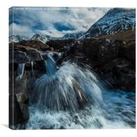 A special kind of waterfall in the Fairy Pools, Canvas Print