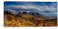 The actual Cuillin Hills, Canvas Print