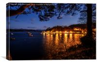 Portree pier at dusk #2, Canvas Print