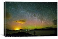 Milky Way and Aurora Borealis #3, Canvas Print