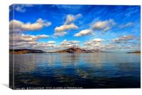 Clouds reflected in the Sound of Raasay, Canvas Print