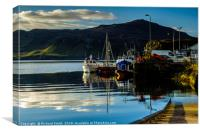 Moored to Portree pier at first sunlight #2, Canvas Print