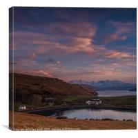 Gesto Farm, Loch Harport & The Cuillin, Canvas Print