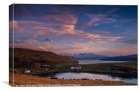 Gesto Farm, Loch Harport & The Cuillin #2, Canvas Print