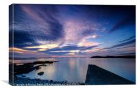 Light reflections from the Sgeir Lang Slipway, Canvas Print