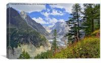 Vista Alps - Mer De Glace, Canvas Print