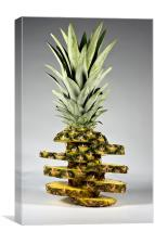 pineapple with slices, Canvas Print