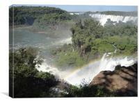 Iguassa Falls, Brazil, Canvas Print