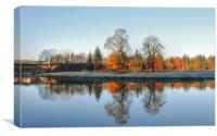 Autumn on the River Don, Canvas Print