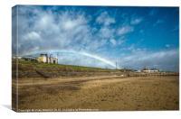 Rainbow at Aberdeen Beach, Canvas Print