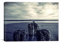Groynes at Aberdeen Beach, Canvas Print