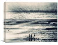 3 Surfers, Canvas Print
