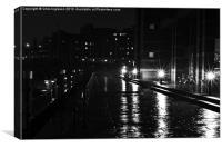 The Wet Walkway, Canvas Print