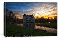 Moated Castle Bodelschwing, Canvas Print