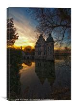 Moated castle Bodelschwingh 2, Canvas Print