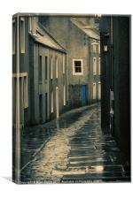 Misty Stromness, orkney, Canvas Print