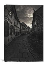 Old cobbled streets, Canvas Print
