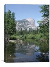 Reflection on  Mirror Lake Yosemite, Canvas Print