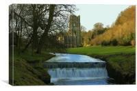 Fountains Abbey North Yorkshire, Canvas Print