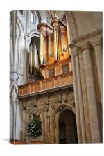 The Pipes At Norwich Cathedral, Canvas Print