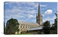 Norwich Cathedral Norwich UK, Canvas Print