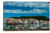 Fishing Port Of Scarborough, Canvas Print