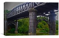 Bridge over river Don, Canvas Print