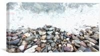 Rocky Waters, Canvas Print