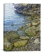 Rocky waters 2, Canvas Print