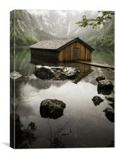 Obersee Boathouse, Canvas Print