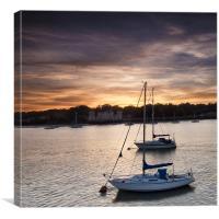 Yachts at Sunset, Canvas Print