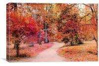Autumn walk , Canvas Print