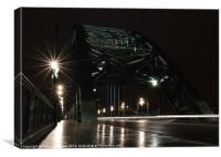 "Time in the rain ""tyne"", Canvas Print"