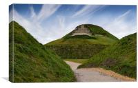 Northumberlandia lady of the north, Canvas Print