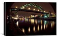 Tyne @night, Canvas Print