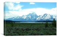 The Grand Tetons, Canvas Print