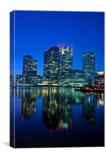 Canary Wharf at dusk, Canvas Print