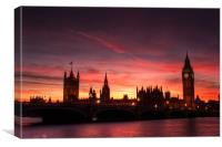 Sunset over Parliament, Canvas Print