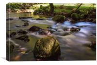River Fowey, Canvas Print