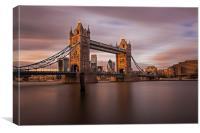 Tower Bridge at Dusk, Canvas Print