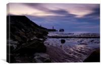 Whitby on the Horizon, Canvas Print