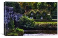 River Cottage, Canvas Print