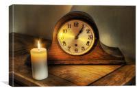 Antique chiming clock., Canvas Print