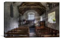 Llanrhychwyn Church, Canvas Print