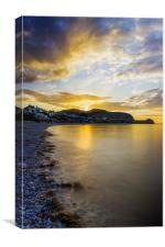 Sunset Little Orme, Canvas Print